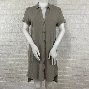 James Perse short sleeve button shirt dress size 1